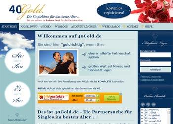 Zur Startseite von 40Gold.de (eine der 40plus bzw. 50plus Singlebörsen)