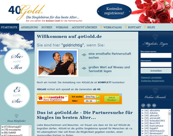 Auf zur 40Gold.de - Startseite