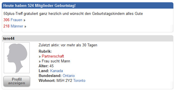 Partnersuche für alternative