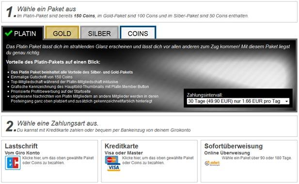 Der Premium-Shop von Affaire.com