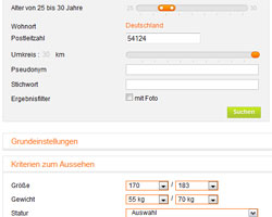 neu.de Suche - mit der Detailsuche zum Wunschpartner