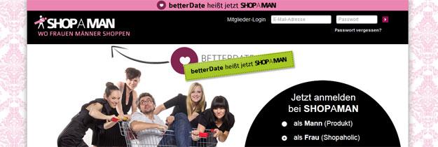 """betterDate heißt jetzt: """"SHOPAMAN"""""""