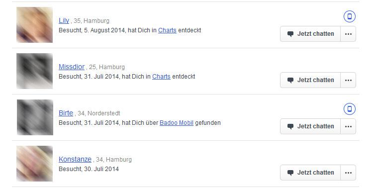 Online-Status auf Badoo