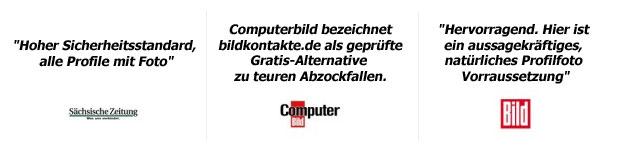 Einige ausgewählte Pressestimmen zu bildkontakte.de