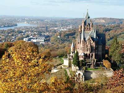 Schloss Drachenburg in der Nähe von Bonn