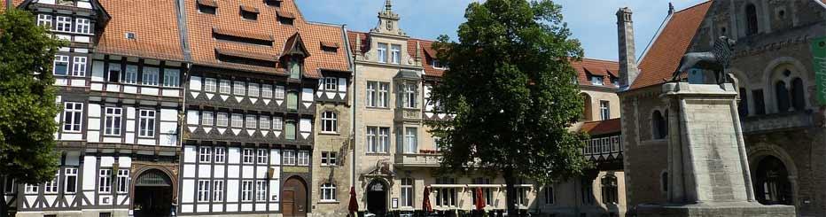 Die historische Altstadt in Braunschweig