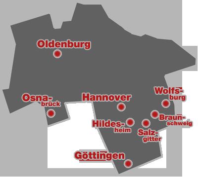 Das nördliche Bundesland Niedersachsen