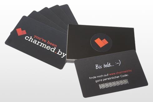 Mit charmed.by werden Flirtkarten verteilt