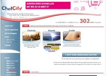 Auf geht es zur ChatCity - Startseite