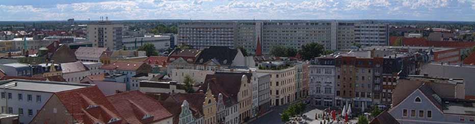 Ein Blick über die Stadt Cottbus