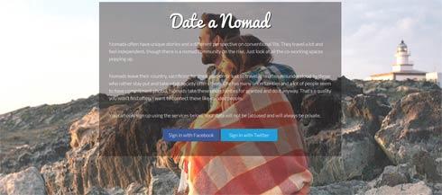 Die neue Singlebörse 'Date a Nomad'