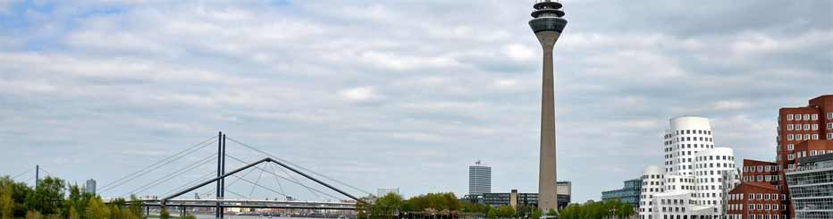 Ein schöner Blick über Düsseldorf