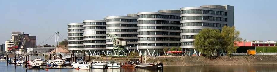 Der Innenhafen von Duisburg