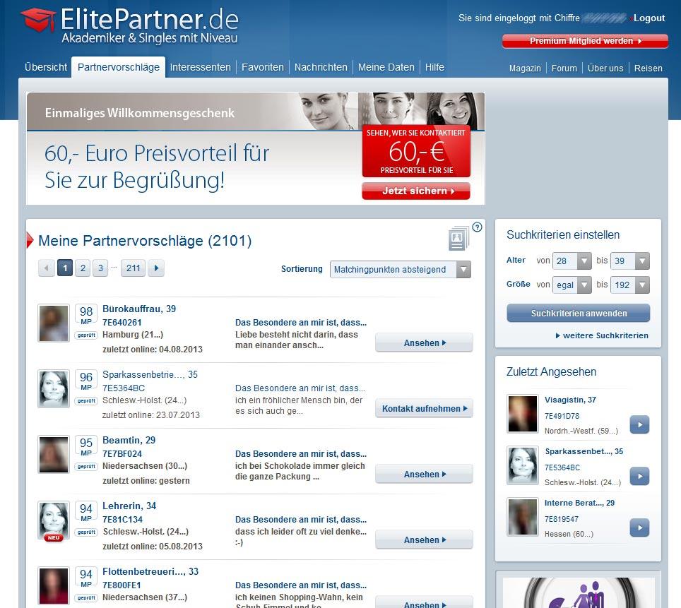 Partnervermittlung elitepartner