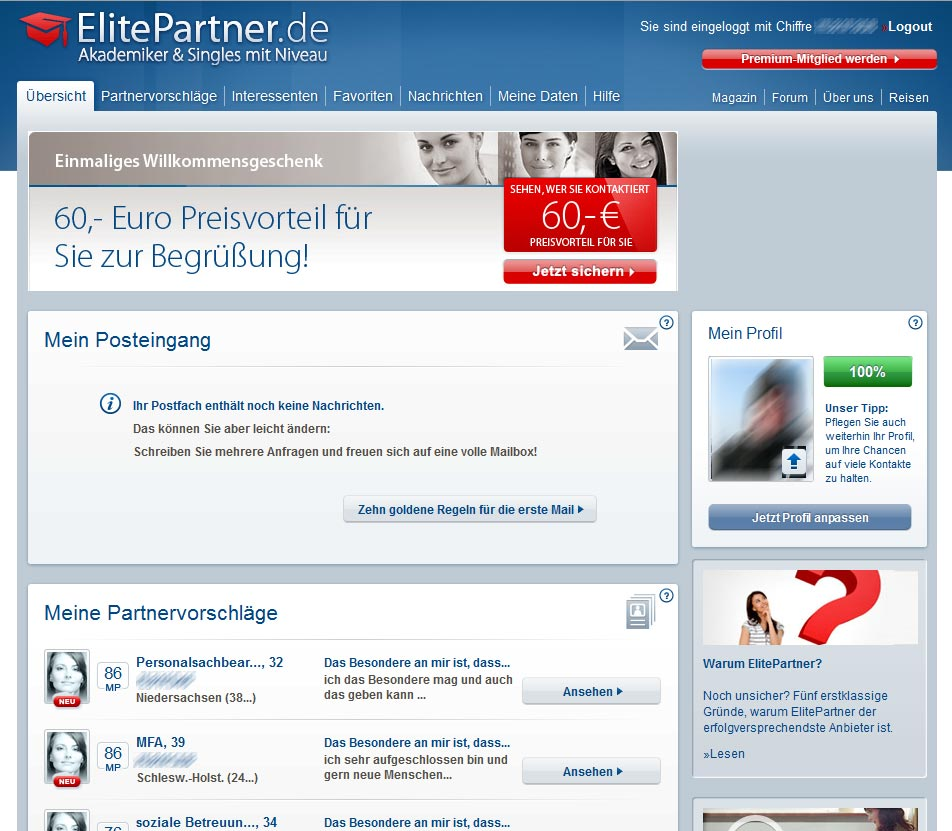 Elitepartner Test
