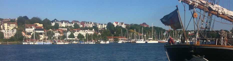 Die schöne Stadt Flensburg an der dänischen Grenze