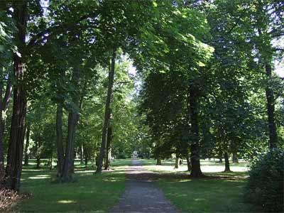 Einer der Parks in Frankfurt (Oder)