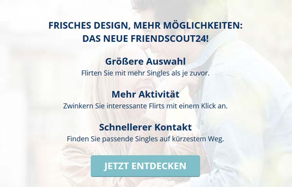 Der FriendScout24 Relaunch Layer
