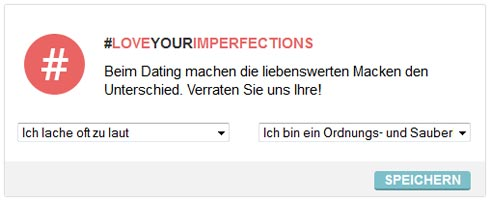 Neue Funktion auf FriendScout24: LoveYourImperfections