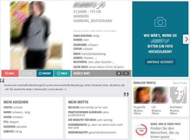 Das FriendScout24 Profil wirkt sehr modern und übersichtlich