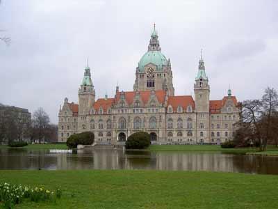 Das schöne Rathaus in Hannover