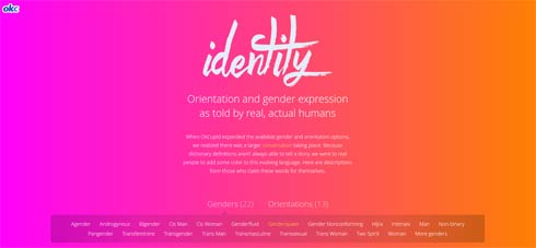 Das OkCupid Projekt 'Identity'