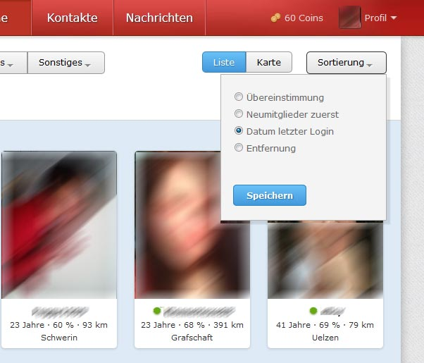 Online dating profil analyse