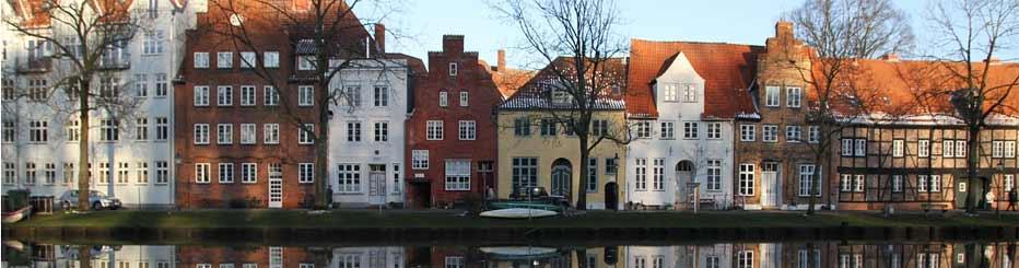Die Lübecker Altstadt am Kanal