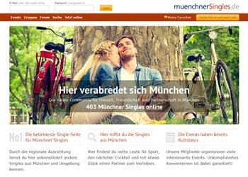 Regionale Singlebörse - hier geht es zu muenchnerSingles.de