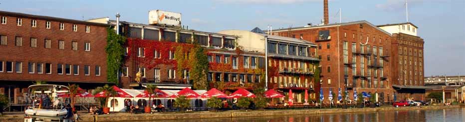 Münsters Hafen mit dem Kreativkai