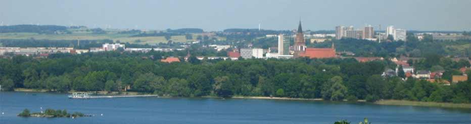 Die Stadt Neubrandenburg am Tollensesee