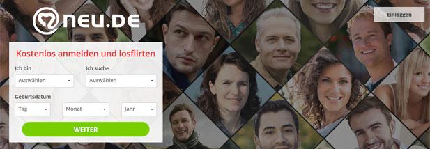 Der erste Schritt der NEU.de Registrierung