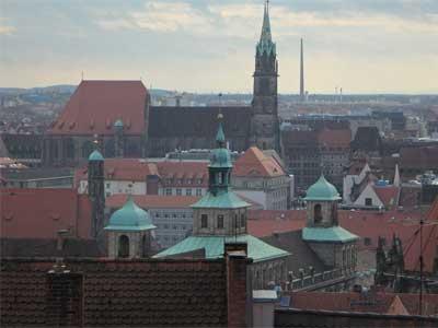 Ein Blick über die Dächer von Nürnberg