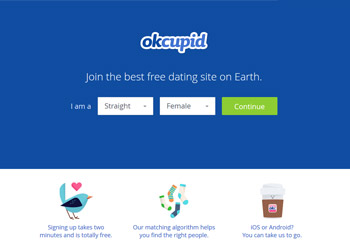 OkCupid - Startseite