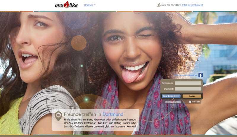 Die Startseite von one2like