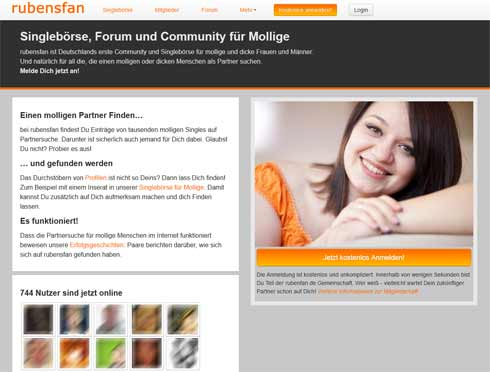 Die Startseite von rubensfan.de