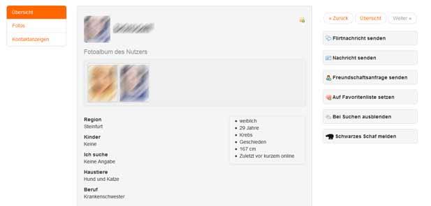 So sieht ein Profil bei rubensfan.de aus