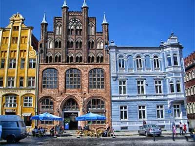 Die Innenstadt in Stralsund