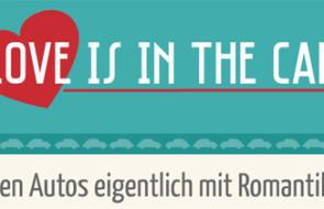 Infografik: Beziehung zwischen Autos und Liebe