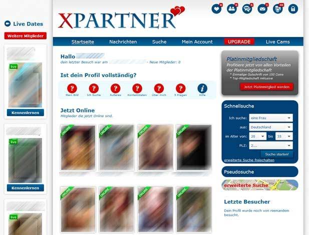 Die Mitglieder-Startseite bei XPARTNER