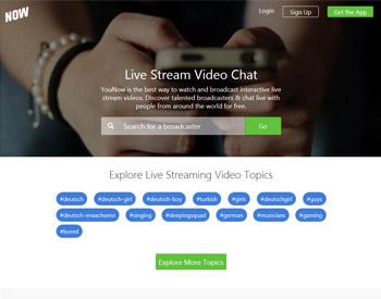 Hier geht es lang zur YouNow Startseite